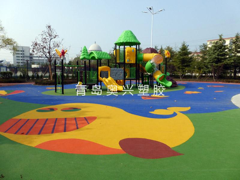 EPDM透气型幼儿园塑胶场地